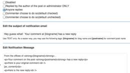 Email către comentator
