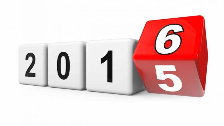 2016, adică un An Nou!